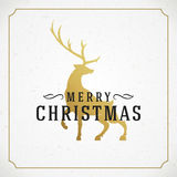 Merry Christmas Greetings Card or Poster Design Royalty Free Stock Image