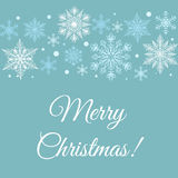 Merry Christmas greetings card Royalty Free Stock Images