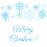 Merry Christmas greetings card Stock Image