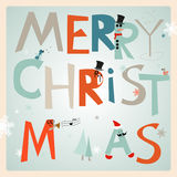 Merry Christmas. Greetings card with Merry Christmas, vector, EPS10 Stock Photography
