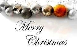 Merry christmas greetings. Merry christmas gold christmas ball, new year stock image