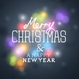 Merry Christmas Greetings Stock Images