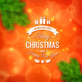 Merry Christmas greetings logo on colorful background Royalty Free Stock Images