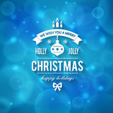 Merry Christmas greetings logo on colorful background. Royalty Free Stock Photos