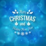 Merry Christmas greetings logo Royalty Free Stock Photo