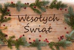 Merry Christmas greetings Stock Image