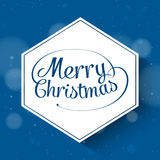 Merry Christmas Greetings Postcard with Vintage Royalty Free Stock Image