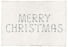 Merry Christmas greetings slogan on plywood board Stock Images