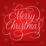 Merry Christmas Greetings Slogan on red background Stock Photography