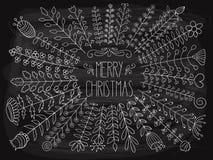 Merry christmas Greetings. Vector 2018 Merry christmas Greetings Royalty Free Stock Photo