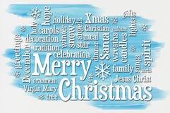 Merry Christmas greetings word cloud Stock Image