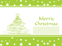 Merry christmas gretting card Stock Photo