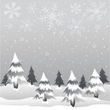 Merry Christmas. Grey trees greeting card Stock Photography