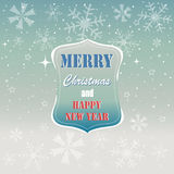 Merry Christmas, grey trees greeting card. Merry Christmas greeting card on the blue background Royalty Free Stock Photo