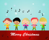 Merry Christmas - Group of Children Stock Photography
