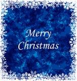 Merry Christmas Grunge Background. Illustration Merry Christmas Grunge Background, Frame Made in Snowflakes - Vector stock illustration