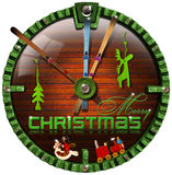 Merry Christmas Grunge Clock Stock Image