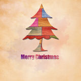 Merry christmas on grunge paper Stock Photo