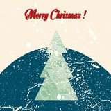 Merry Christmas grunge tree background. Vector illustration. EPS 10 Royalty Free Stock Images