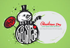 Merry christmas hand draw. Royalty Free Stock Images