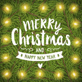 Merry christmas hand-drawing greeting card Stock Photography