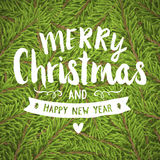 Merry christmas hand-drawing greeting card Royalty Free Stock Photography