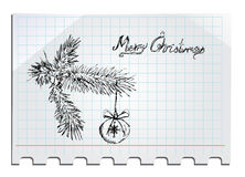 Merry Christmas Hand drawn Royalty Free Stock Image