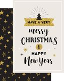 Merry Christmas hand drawn card Stock Photo