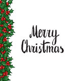 Merry Christmas. Hand drawn  design element Stock Photos
