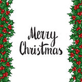 Merry Christmas. Hand drawn  design element Royalty Free Stock Image