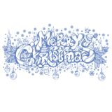 Merry Christmas. Beautiful hand drawn inscription. Merry Christmas. Hand drawn inscription with Christmas decorations for greeting cards, posters and other items Royalty Free Stock Photos