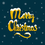 Merry Christmas hand drawn lettering royalty free stock photography