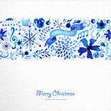 Merry Christmas hand drawn pattern illustration Royalty Free Stock Image