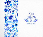 Merry Christmas hand drawn seamless pattern Stock Image