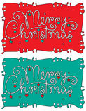 Merry christmas hand lettering Stock Photo