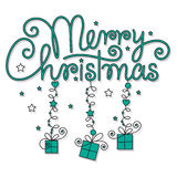 Merry christmas hand lettering Royalty Free Stock Photography