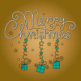 Merry christmas hand lettering Royalty Free Stock Photo