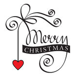 Merry christmas hand lettering Stock Image