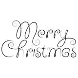 Merry christmas hand lettering Stock Photos