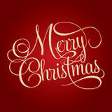 MERRY CHRISTMAS hand lettering. Handmade calligraphy, holiday season concept, background royalty free illustration