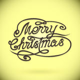 MERRY CHRISTMAS hand lettering,custom handmade Royalty Free Stock Photography