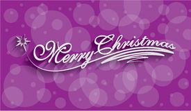 Merry Christmas Hand lettering Greeting Card Royalty Free Stock Images