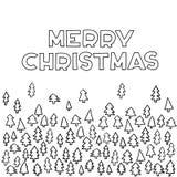 Merry Christmas Hand Lettering Greeting Card. Vector Illustration. Modern Calligraphy stock illustration