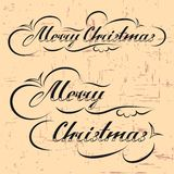 Merry Christmas hand lettering Royalty Free Stock Image