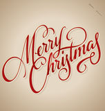 MERRY CHRISTMAS hand lettering (vector) royalty free illustration
