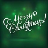 MERRY CHRISTMAS hand lettering -- handmade calligraphy,  Stock Photo