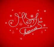 Merry christmas hand lettering - handmade calligraphy Royalty Free Stock Photo