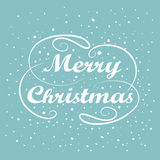 Merry Christmas hand lettering. Handmade calligraphy holiday greeting card design. Vintage handwriting message.  Royalty Free Stock Photo