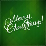MERRY CHRISTMAS hand lettering -- handmade calligraphy, vector Stock Images