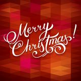 MERRY CHRISTMAS hand lettering -- handmade calligraphy, vector Royalty Free Stock Photo